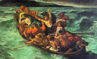 Una tempesta mentre erano in barca