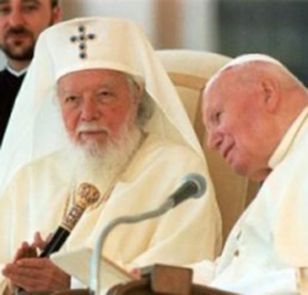 Grußwort des Papstes an den Patriarchen von Rumänien nach der Audienz für die Pilger, 6. Oktober 2002