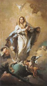 De onbevlekte ontvangenis van de Maagd Maria
