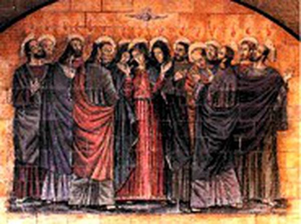 3. glorreiches Geheimnis. Die Herabkunft des Heiligen Geistes