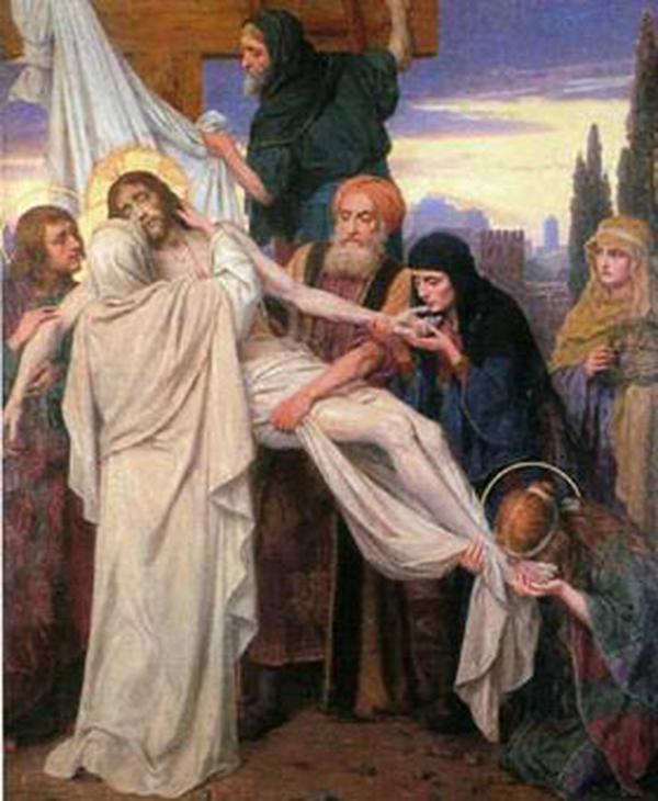 Isus este luat jos de pe Cruce şi încredinţat Mamei sale