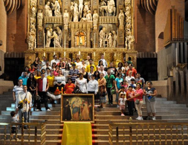 Fiesta de la Virgen de Chiquinquirá en Torreciudad (España)