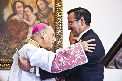 """Por lo tanto –dijo el prelado del Opus Dei– """"reaccionemos con generosidad y también con firmeza'. Foto: Cristián Aninat Gálmez."""