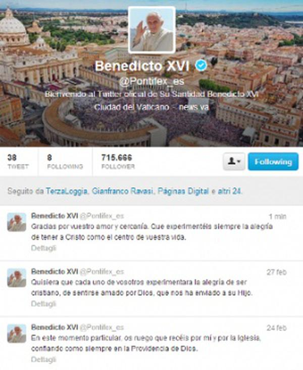 Ultimul tweet al Papei Benedict al XVI-Iea
