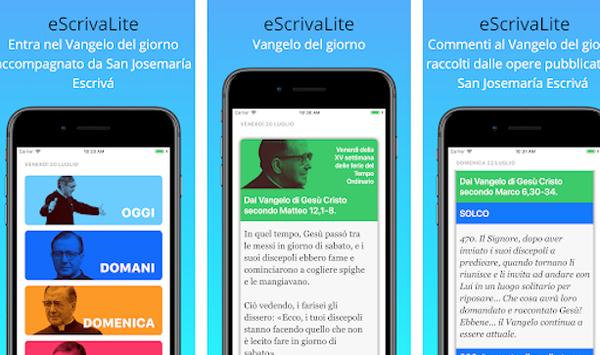 Una nuova app per pregare ogni giorno: 'eScrivaLite'