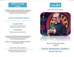 Misa Perayaan Dies Natalis Santo Josemaria