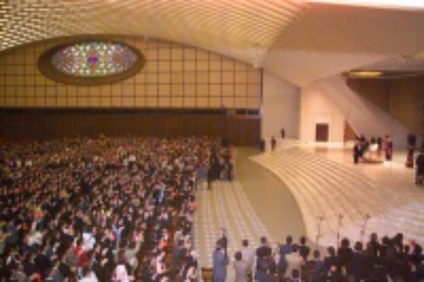 Univ 2006: el Papa, con estudiantes de 200 universidades del mundo