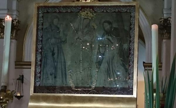 La Virgen del Rosario de Chiquinquirá retornó a su casa