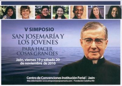 Folleto del V Simposio de San Josemaria y los jóvenes
