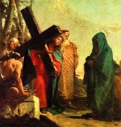 제 4 처 예수와 성모 서로 만나심