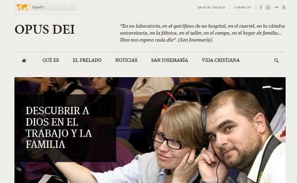 Opus Dei - Představujeme nové webové stránky