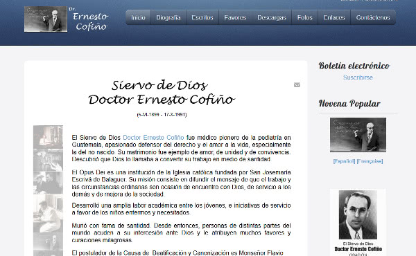 Opus Dei - Website de la causa del doctor Cofiño
