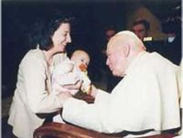 Vídeo da audiência com João Paulo II