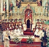 Mass at the Cathedral in Quito.