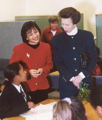 La princesa Anne visitó Baytree el 16 de enero.