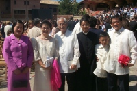 La famille de Laurence est venue depuis les Philippines.