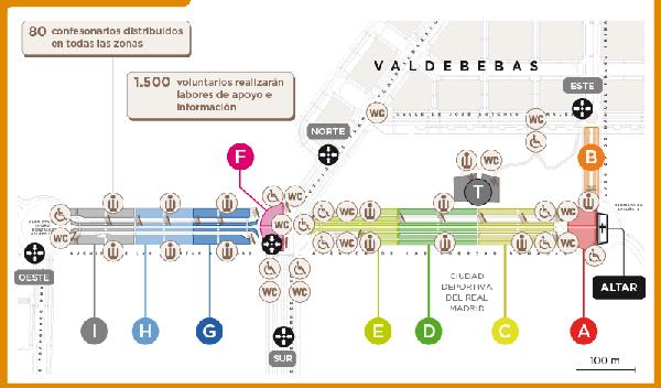 La mappa di Valdebebas per la beatificazione di Álvaro del Portillo