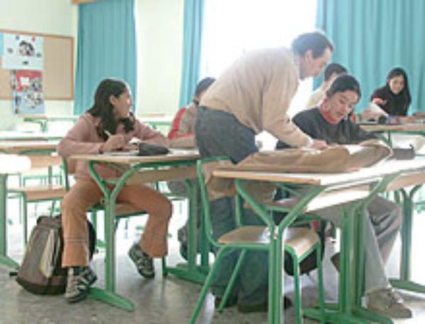 Berriro eskola arreta inmigranteen alde Getxoko Pio Baroja institutuan