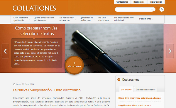 Website collationes.org